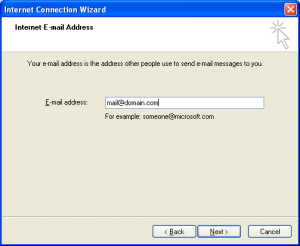 E-mail address - Outlook Express