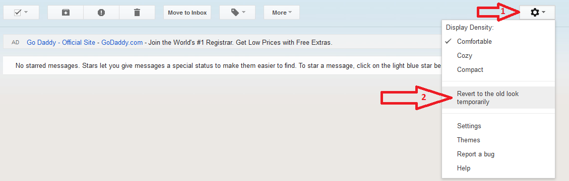 Revert back to old look of Gmail Step - 1