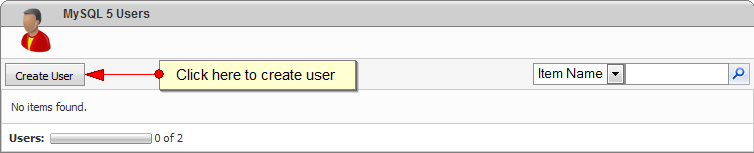 Create MySQL Database User with WebsitePanel - Step 1