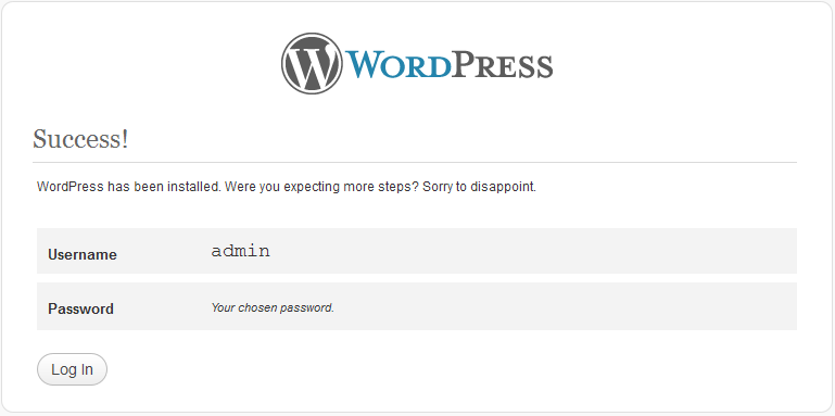 Installing WordPress Step - 2