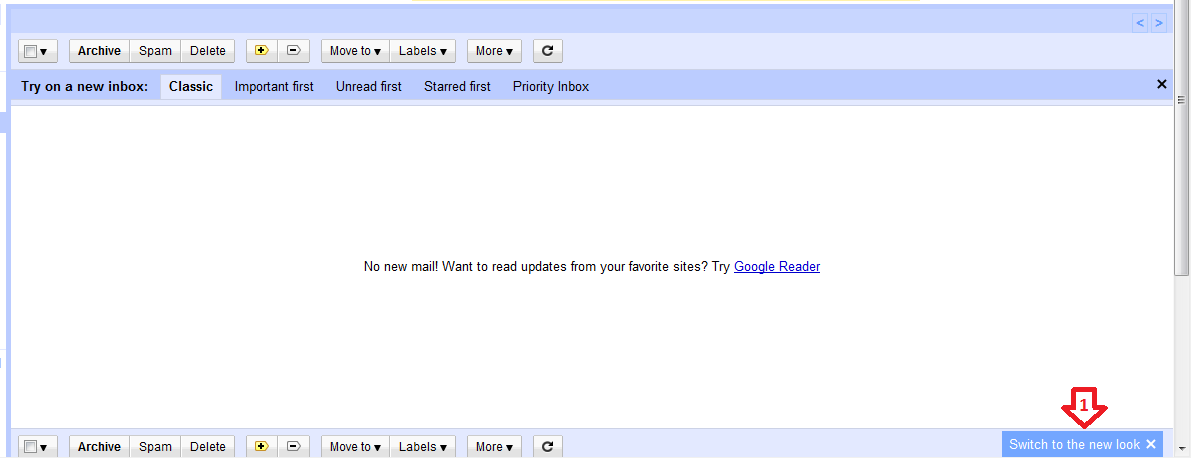 Switch GMail to New look Step-1