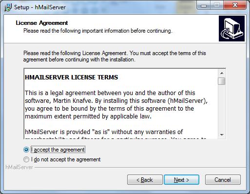 Install hMailServer Step - 2