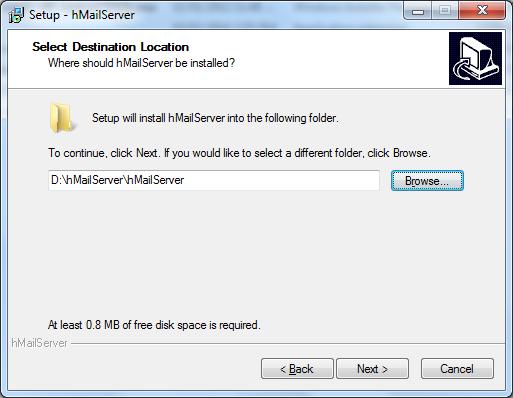 Install hMailServer Step - 3