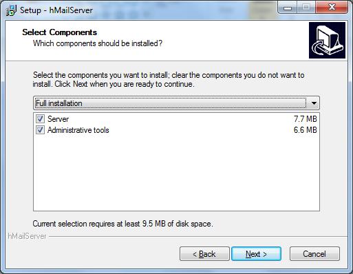 Install hMailServer Step - 4