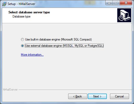 Install hMailServer Step - 5