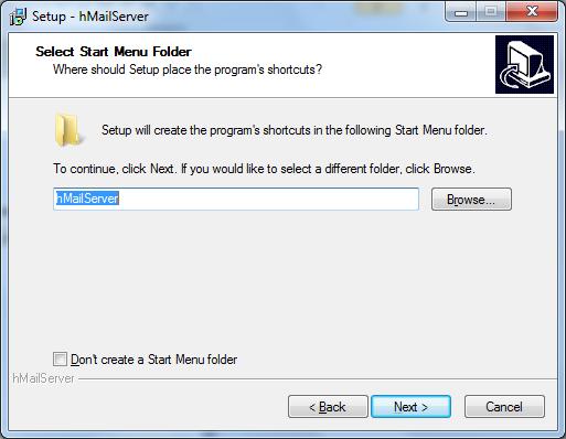 Install hMailServer Step - 6