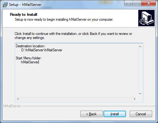 Install hMailServer Step - 7
