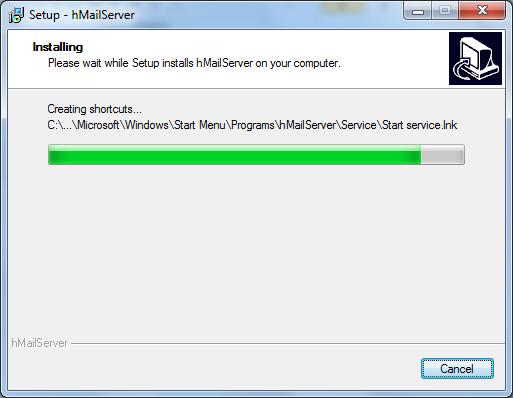 Install hMailServer Step - 8