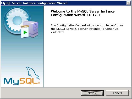 MySQL instance configuration wizard - 1