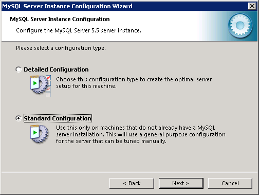 MySQL instance configuration wizard - 2