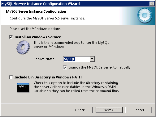MySQL instance configuration wizard - 3