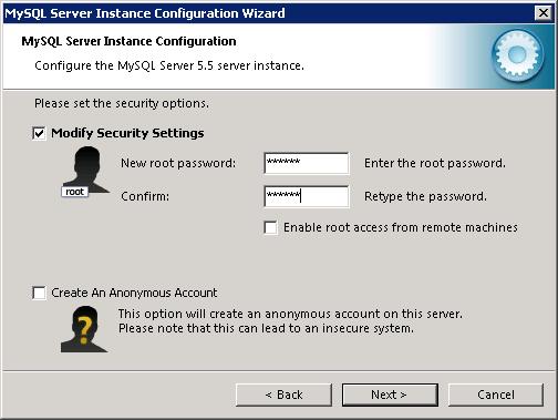 MySQL instance configuration wizard - 4