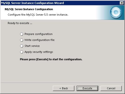 MySQL instance configuration wizard - 5