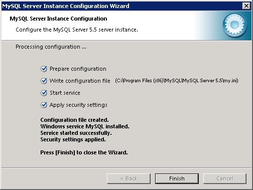 MySQL instance configuration wizard - 6