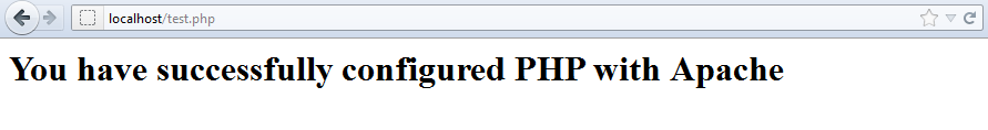 Configure PHP with Apache : Testing PHP