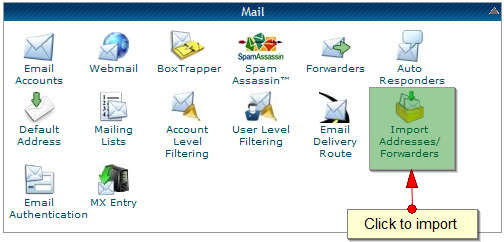 Import email accounts in CPanel - 1