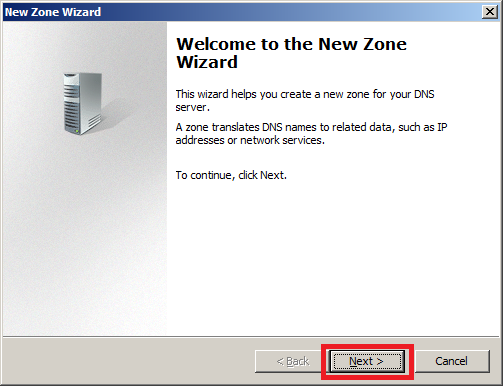 Configure DNS Server in Windows Server 2008 - Step 2