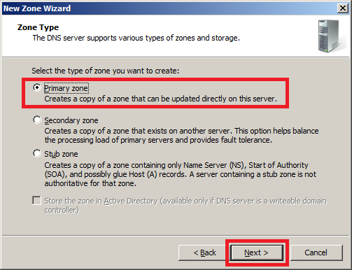 Configure DNS Server in Windows Server 2008 - Step 3
