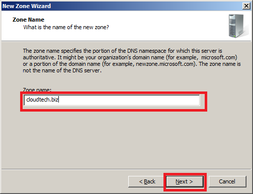 Configure DNS Server in Windows Server 2008 - Step 4