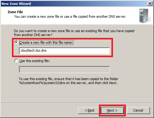 Configure DNS Server in Windows Server 2008 - Step 5