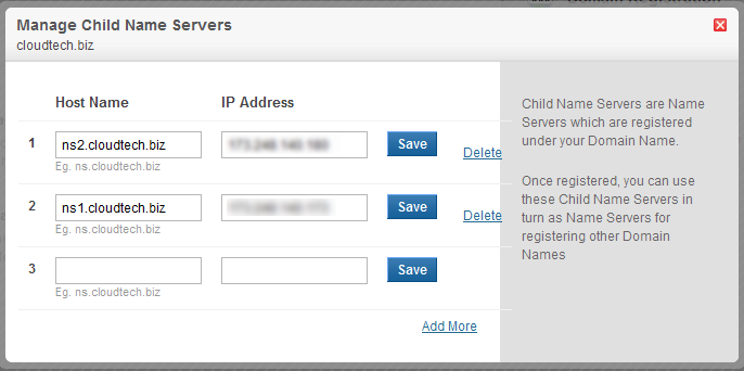 Create Child Name Servers at Domain Name Registrar