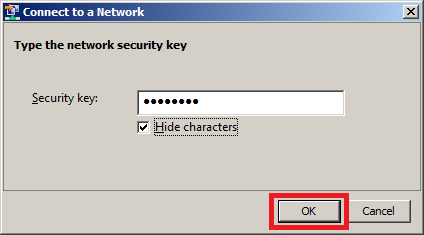 Install Wireless LAN Service in Windows Server 2008 - Security Key