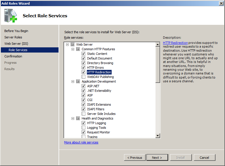 Install IIS on Windows Server 2008