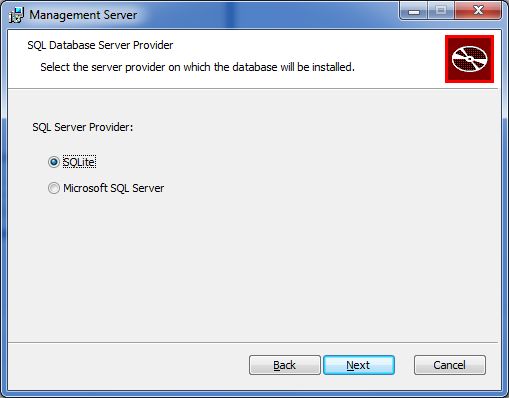 NovaBackup CMC :: Select SQL Database Server Provider