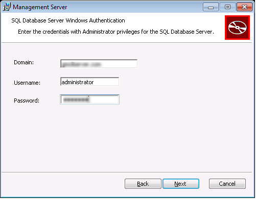 NovaBackup CMC :: SQL Database Server Windows Authentication