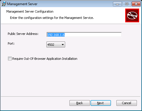 NovaBackup CMC :: Management Service Settings